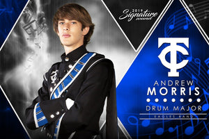 Band - v.2 - Signature Player - H Poster/Banner Downloadable Template Photo Solutions PSMGraphix
