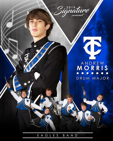 Band - v.2 - Signature Player - V T&I Poster/Banner Downloadable Template Photo Solutions PSMGraphix