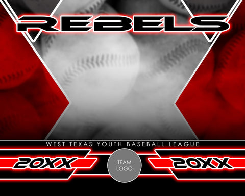 Baseball - Signature Series v.2 - Xtreme Team Photoshop Template-Photoshop Template - Photo Solutions