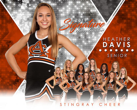 Cheer - v.2 - Signature Player - H T&I Poster/Banner-Photoshop Template - Photo Solutions