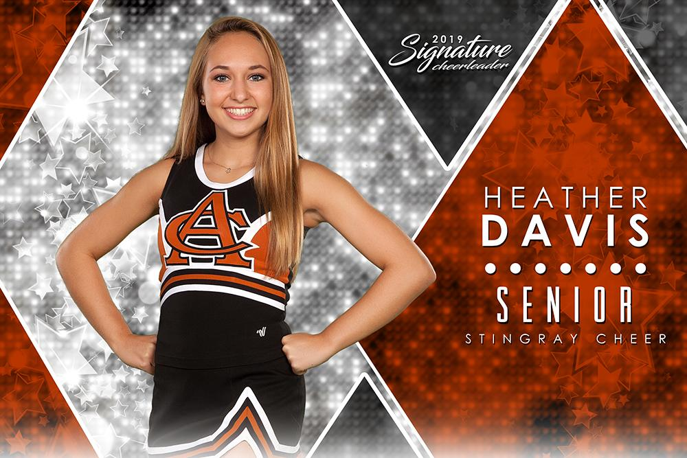 Cheer - v.2 - Signature Player - H Poster/Banner-Photoshop Template - Photo Solutions