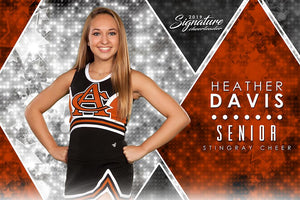 Cheer - v.2 - Signature Player - H Poster/Banner Downloadable Template Photo Solutions PSMGraphix