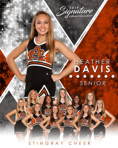Cheer - v.2 - Signature Player - V T&I Poster/Banner-Photoshop Template - Photo Solutions