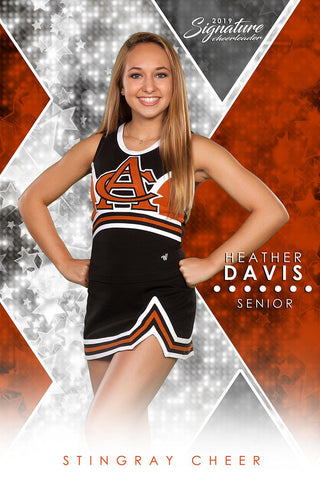 Cheer - v.2 - Signature Player - V Poster/Banner Downloadable Template Photo Solutions PSMGraphix