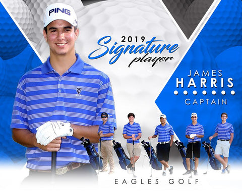 Golf- v.2 - Signature Player - H T&I Poster/Banner-Photoshop Template - Photo Solutions