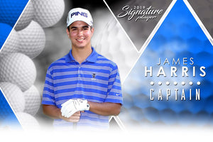 Golf- v.2 - Signature Player -H Poster/Banner-Photoshop Template - Photo Solutions