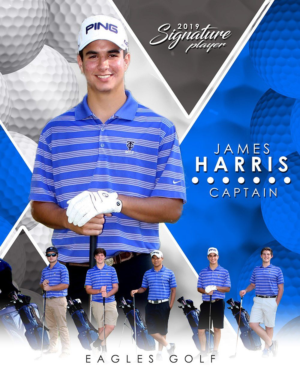 Golf- v.2 - Signature Player - V T&I Poster/Banner-Photoshop Template - Photo Solutions