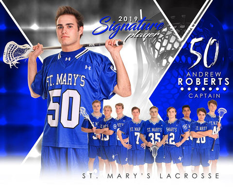 Lacrosse - v.2 - Signature Player - H T&I Poster/Banner-Photoshop Template - Photo Solutions