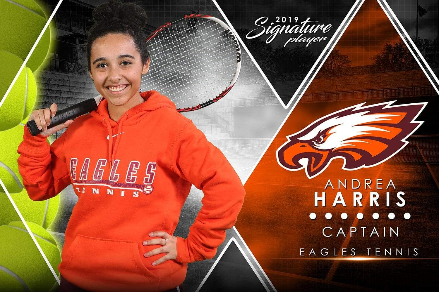 Tennis - v.2 - Signature Player - H Poster/Banner-Photoshop Template - Photo Solutions