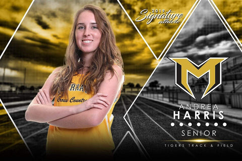 Track & Field - v.2 - Signature Player - H Poster/Banner