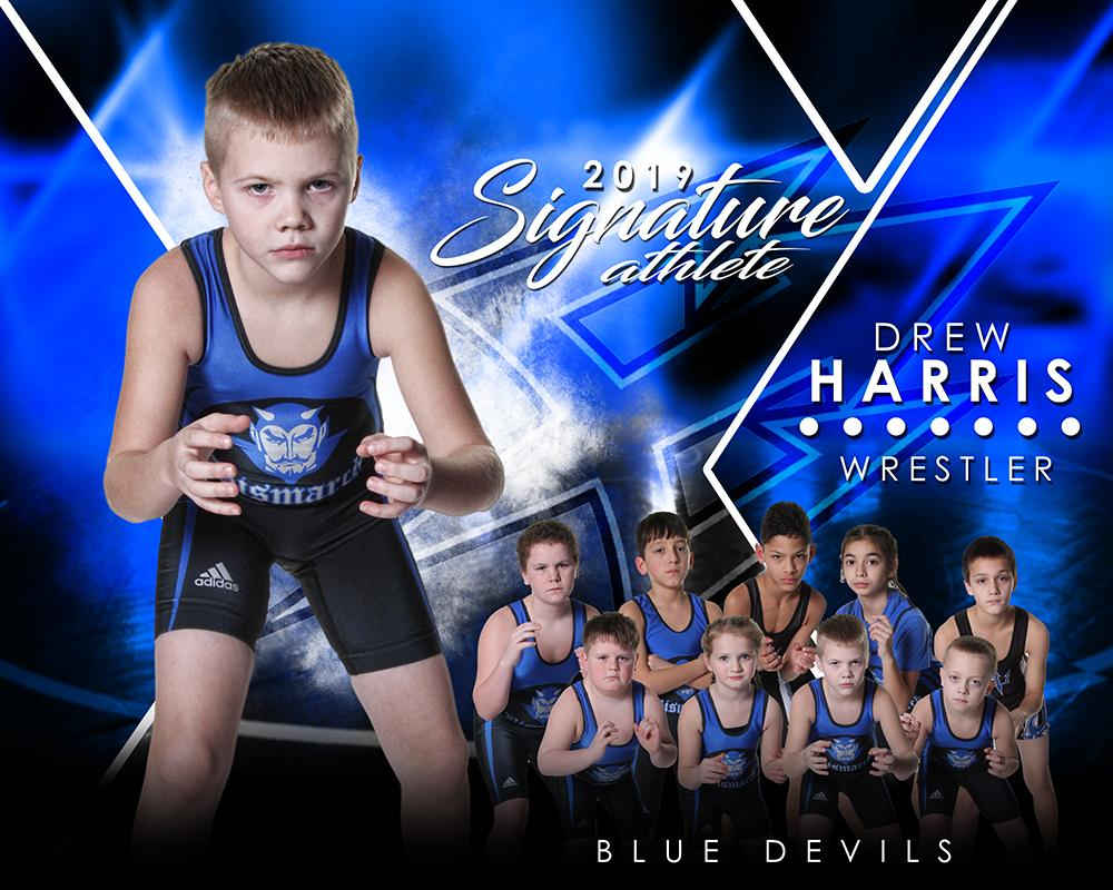 Wrestling - v.2 - Signature Player - H T&I Poster/Banner-Photoshop Template - Photo Solutions