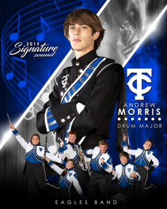 Band - v.3 - Signature Player - V T&I Poster/Banner Downloadable Template Photo Solutions PSMGraphix