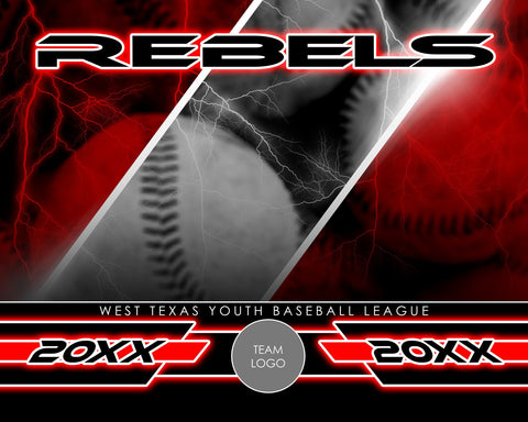 Baseball - Signature Series v.3 - Xtreme Team Photoshop Template-Photoshop Template - Photo Solutions
