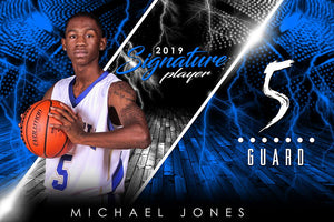 Basketball - v.3 - Signature Player - H Poster/Banner Downloadable Template Photo Solutions PSMGraphix