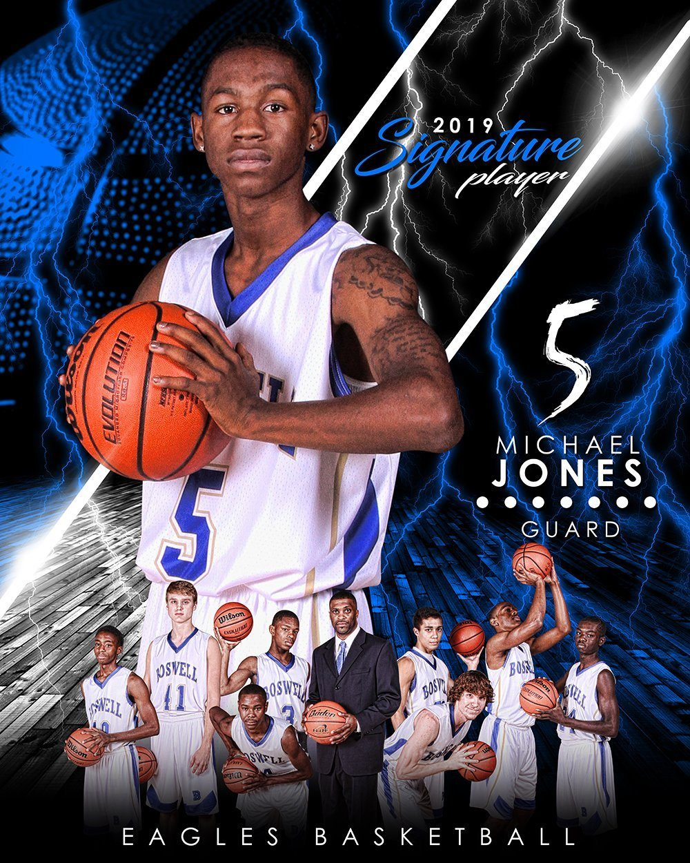 Basketball - v.3 - Signature Player - V T&I Poster/Banner-Photoshop Template - Photo Solutions