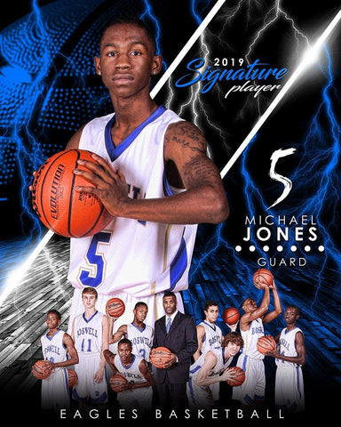 Basketball - v.3 - Signature Player - V T&I Poster/Banner Downloadable Template Photo Solutions PSMGraphix