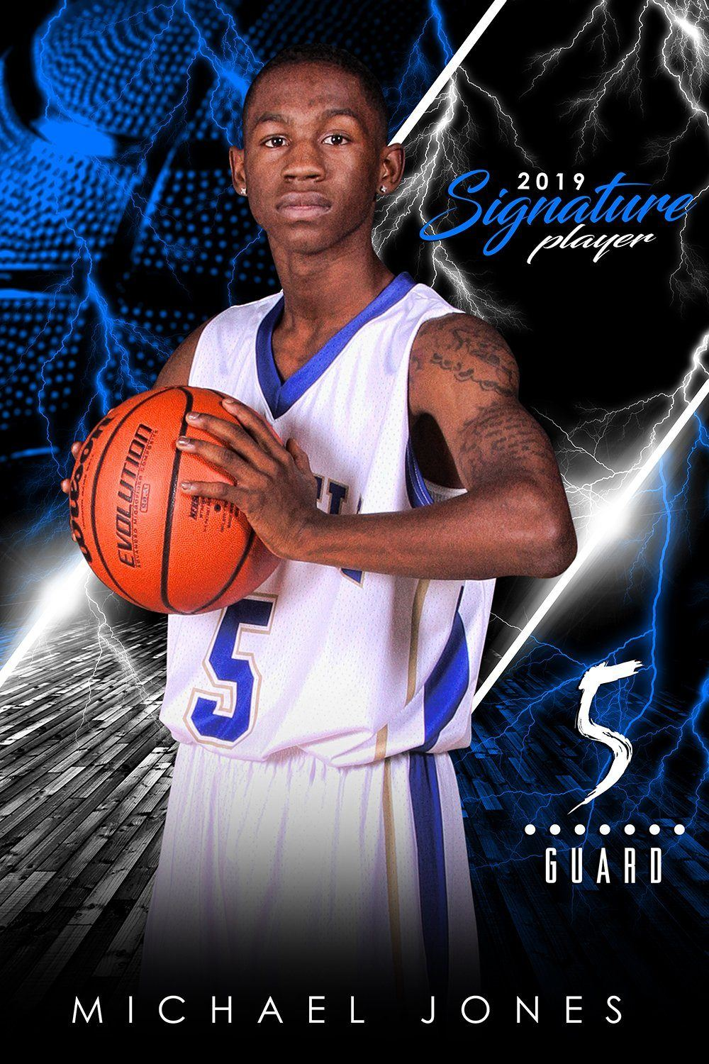 Basketball - v.3 - Signature Player - V Poster/Banner-Photoshop Template - Photo Solutions
