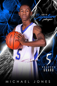 Basketball - v.3 - Signature Player - V Poster/Banner Photoshop Template -  PSMGraphix
