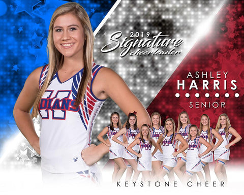 Cheer - v.3 - Signature Player - H T&I Poster/Banner-Photoshop Template - Photo Solutions