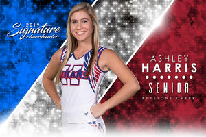Cheer- v.3 - Signature Player - H Poster/Banner Downloadable Template Photo Solutions PSMGraphix