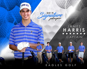 Golf- v.3 - Signature Player - H T&I Poster/Banner-Photoshop Template - Photo Solutions