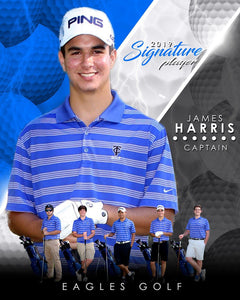 Golf- v.3 - Signature Player - V T&I Poster/Banner-Photoshop Template - Photo Solutions