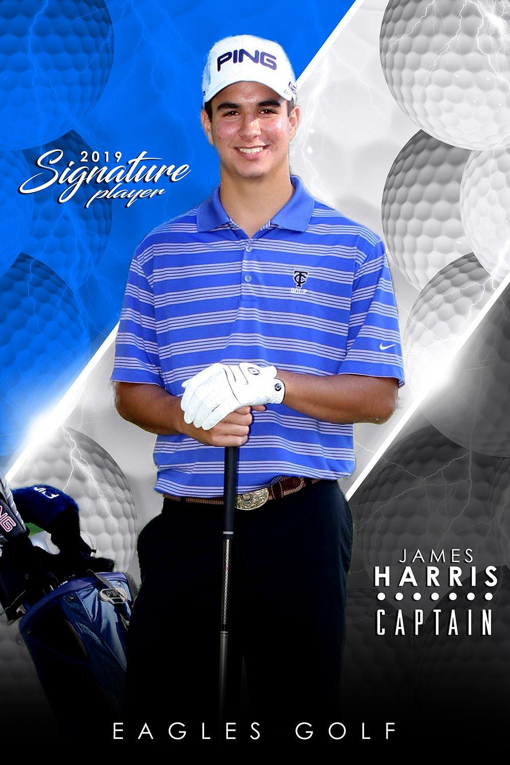 Golf- v.3 - Signature Player - V Poster/Banner-Photoshop Template - Photo Solutions