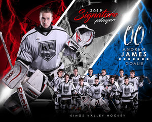 Hockey - v.3 - Signature Player - H T&I Poster/Banner
