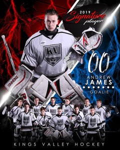 Hockey - v.3 - Signature Player - V T&I Poster/Banner