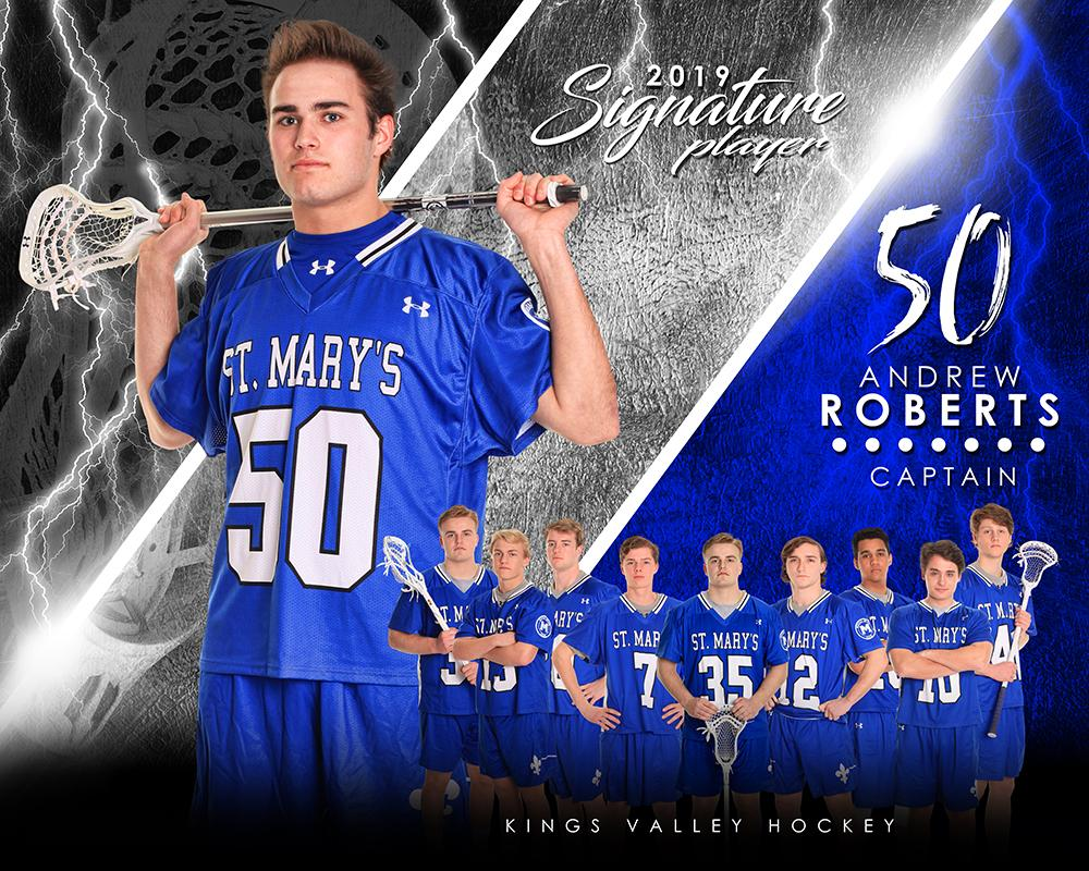 Lacrosse - v.3 - Signature Player - H T&I Poster/Banner-Photoshop Template - Photo Solutions