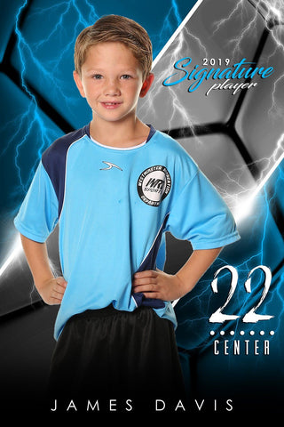 Soccer - v.3 - Signature Player - V Poster/Banner-Photoshop Template - Photo Solutions
