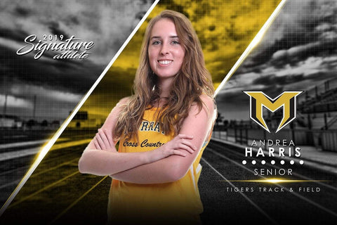 Track & Field - v.3 - Signature Player - H Poster/Banner