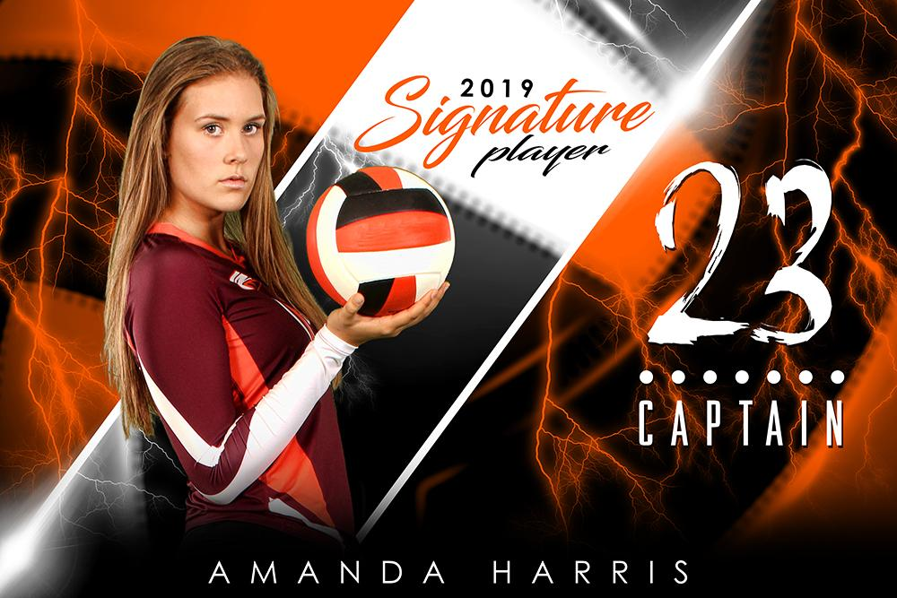 Volleyball - v.3 - Signature Player - H Poster/Banner-Photoshop Template - Photo Solutions