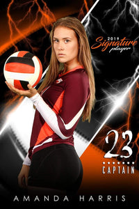 Volleyball - v.3 - Signature Player - V Poster/Banner