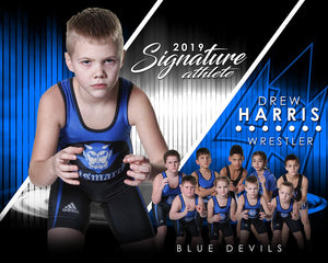 Wrestling - v.3 - Signature Player - H T&I Poster/Banner-Photoshop Template - Photo Solutions