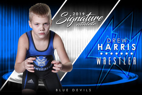 Wrestling - v.3 - Signature Player - H T&I Poster/Banner Downloadable Template Photo Solutions PSMGraphix