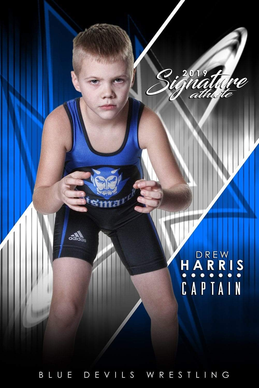 Wrestling - v.3 - Signature Player - V T&I Poster/Banner-Photoshop Template - Photo Solutions