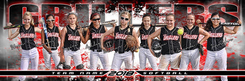 Burst - Signature Series - Team Panoramic-Photoshop Template - Photo Solutions