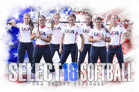 Patriot  - Signature Series - Team Poster/Banner Downloadable Template Photo Solutions PSMGraphix