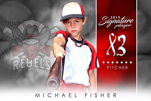 Baseball - v.1 - Signature Player - H Photoshop Template -  PSMGraphix