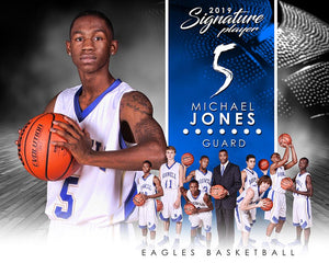 Basketball - v.1 - Signature Player - H T&I Poster/Banner Downloadable Template Photo Solutions PSMGraphix