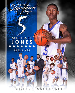 Basketball - v.1 - Signature Player - V T&I Poster/Banner Downloadable Template Photo Solutions PSMGraphix