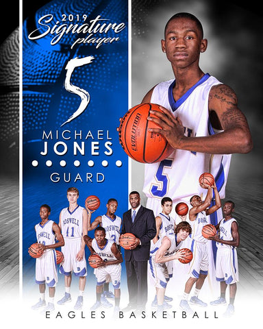 Basketball - v.1 - Signature Player - V T&I Poster/Banner Photoshop Template -  PSMGraphix