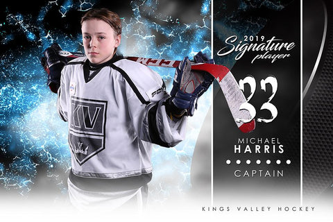 Hockey - v.1 - Signature Player - H-Photoshop Template - Photo Solutions