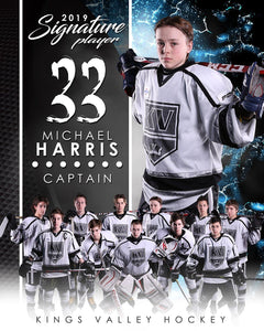 Hockey - v.1 - Signature Player - V T&I Poster/Banner-Photoshop Template - Photo Solutions