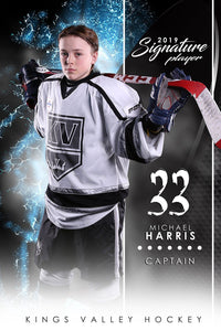 Hockey - v.1 - Signature Player - V-Photoshop Template - Photo Solutions