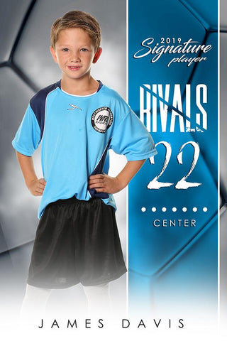 Soccer - v.1 - Signature Player - V Poster/Banner-Photoshop Template - Photo Solutions