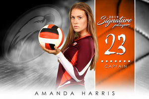 Volleyball - v.1 - Signature Player - H-Photoshop Template - Photo Solutions