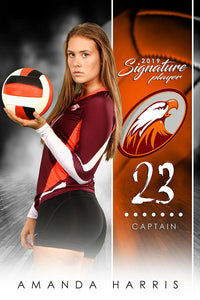 Volleyball - v.1 - Signature Player - V Poster/Banner-Photoshop Template - Photo Solutions