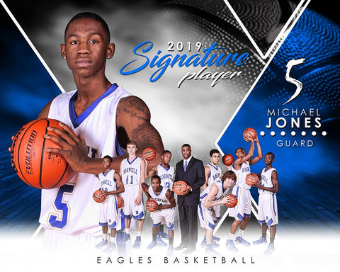 Basketball - v.2 - Signature Player - H T&I Poster/Banner Photoshop Template -  PSMGraphix